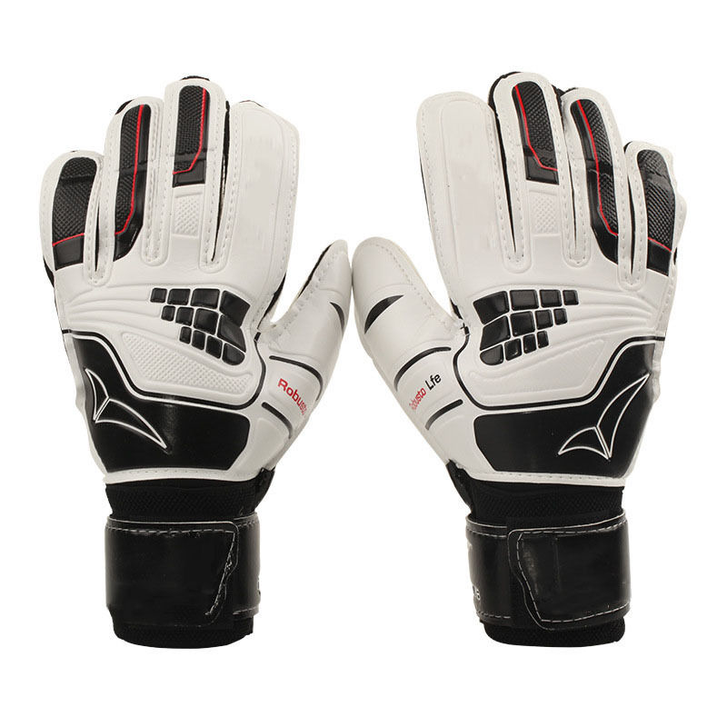 Kids/Adult Goalkeeper Goalie Keeper GK Gloves Finger Protect Soccer Size 6 8 10 ...