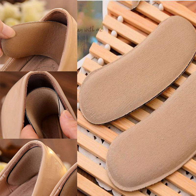 5Pairs Sticky Fabric Shoe Back Heel Inserts Insoles Pads Cushion Liner Grips HOT