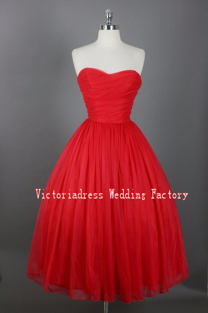 Popular Tea Length Prom Dresses Vintage-Buy Cheap Tea Length Prom ...