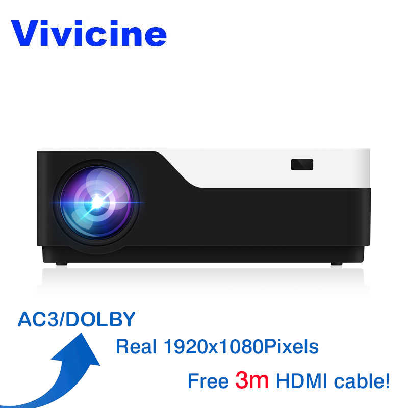 Vivicine M18 1920x1080 Real Full HD proyector HDMI USB PC 1080p LED Multimedia juego Video Proyector apoyo AC3
