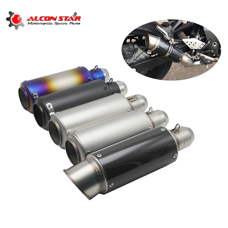 Alconstar 51mm 60mm Motorcycle Pipe Exhaust Motorcycle Exhaust Pipe Muffler For Stainless Steel Scooter Moto Model