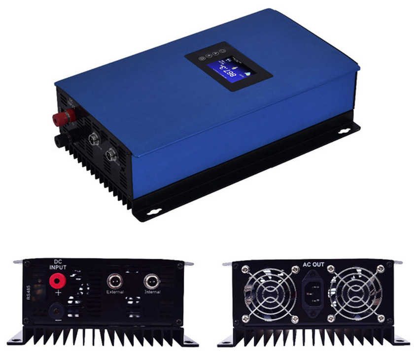 1000W Battery Discharge Power Mode/MPPT Solar Grid Tie Inverter with / no Limiter Sensor DC22-65V to AC 110V 120V 220V 230V 240V 2000w pure sine wave grid tie power inverter with internal limiter dc 45 90v to ac 230v for solar pv connected mppt function