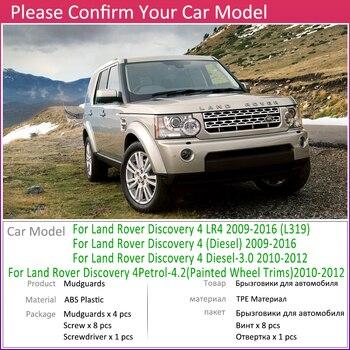 Xe Mudflap cho Land Rover Discovery 4 LR4 2010 ~ 2016 L319 Fender Bùn Bảo Vệ Cánh Tà Mudguards Phụ Kiện 2011 2012 2013 2014 2015