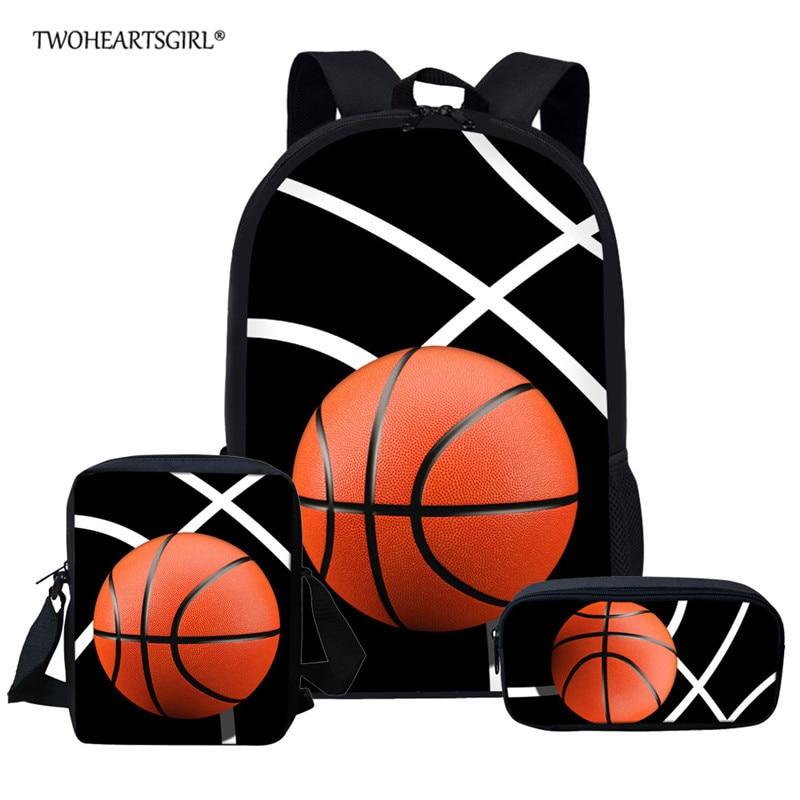 Twoheartsgirl Children School Bags For Boys Orthopedic Backpacks Child Boy Basketball Book bag Satchel Knapsack Mochil