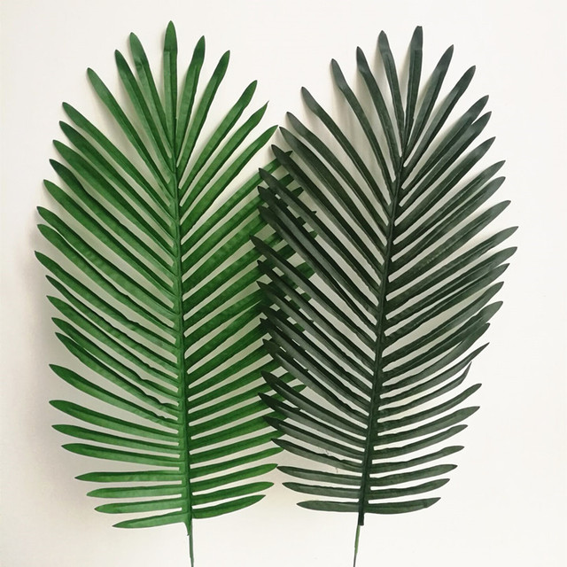 10p artificial plants palm tree leaf faux leaf plant palm sunday