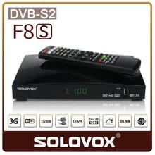 2016 dvb s2 receptor de satélite digital HD receptor SOLOVOX F8S tv turner smart box dvb-s2 con dual core CPU Soporte CCCAM cline