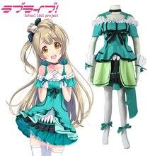 Envío Libre Love Live! Minami Kotori Capítulo 12 Verde Lolita Vestido de Cosplay del Anime