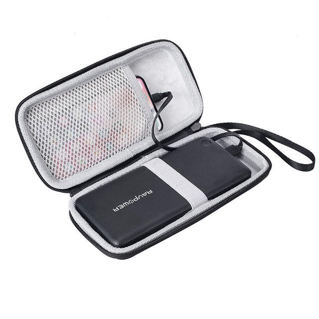 Bolsa de saco de armazenamento de viagem difícil eva zíper caso para anker powercore 26800 para ravpower 26800 e cabo
