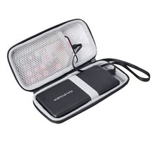 Travel Hard EVA Zipper Case Storage Bag Pouch for Anker PowerCore 26800 for RAVPower 26800 and cable
