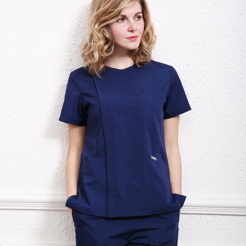 Medical Clothes Scrub Sets Surgical Gowns Doctors Nurses Short Sleeve Uniforms Dentistry Oral Clinic Pet Doctor Workwear Overall ai lianxin new women doctors and nurses surgical caps hat cotton cap and short hair with sweatbands alx 114