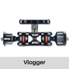 Vlogger viper articulating magic arm 볼 헤드 홀더 모니터 용 마운트 스탠드 홀더 micro dslr 카메라 액세서리 버터 플라이 클립