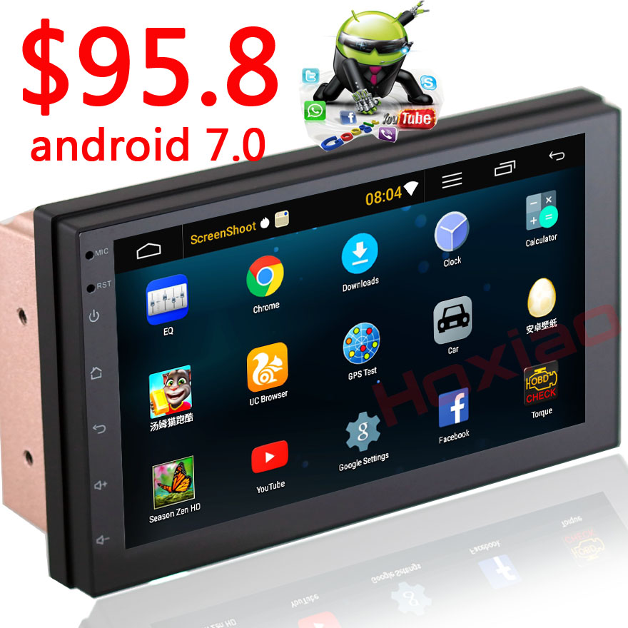 2 Din Android 7.0 Car Radio Stereo Multimedia Play GPS Navigation Wifi Bluetooth USB Autoradio FM Audio camera car DVD Player