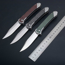 BF96 D2 blade/G10+carbon fiber handle Folding knife Outdoor survival camping tool edc Pocket Knife tactical outdoor