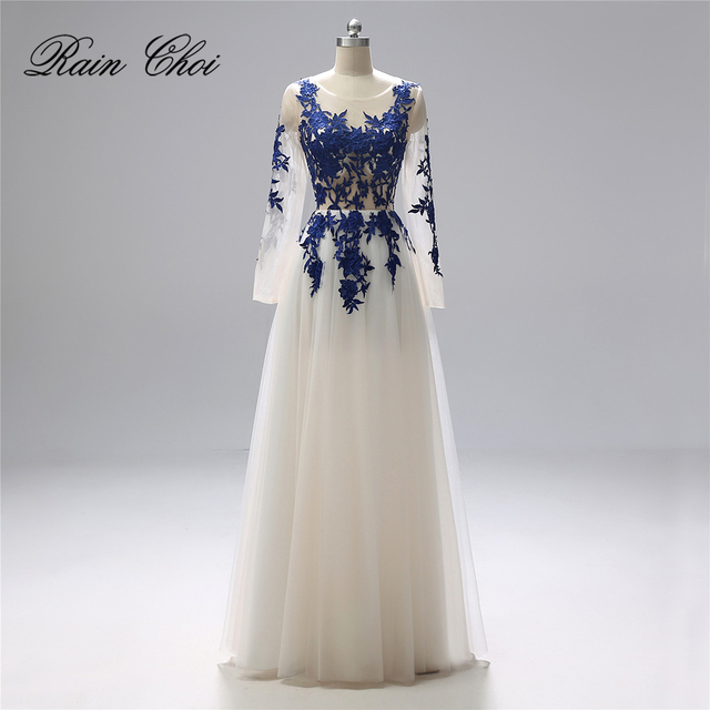 Long Sleeves Formal Evening Gown Real Photo Elegant Long Prom Evening Dresses 2019