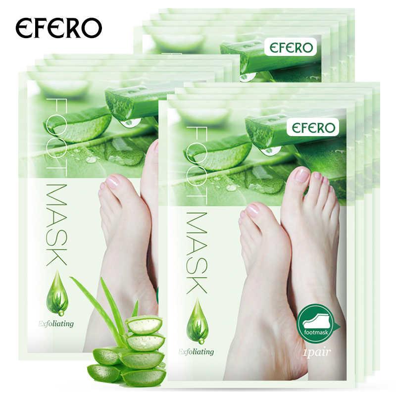 3 pacotes aloe pé máscara para pernas peeling máscara renovação meias para pedicure remover a pele morta suave esfoliante meias cuidados com os pés