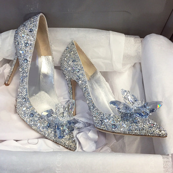 Faux Jimmy Choo Cinderella Wedding Shoes. (34-41)