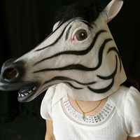 New Latex Horse Head Full Overhead Mask Celebrate Halloween Creepy Party Accessories Funny Cosplay Costume Party