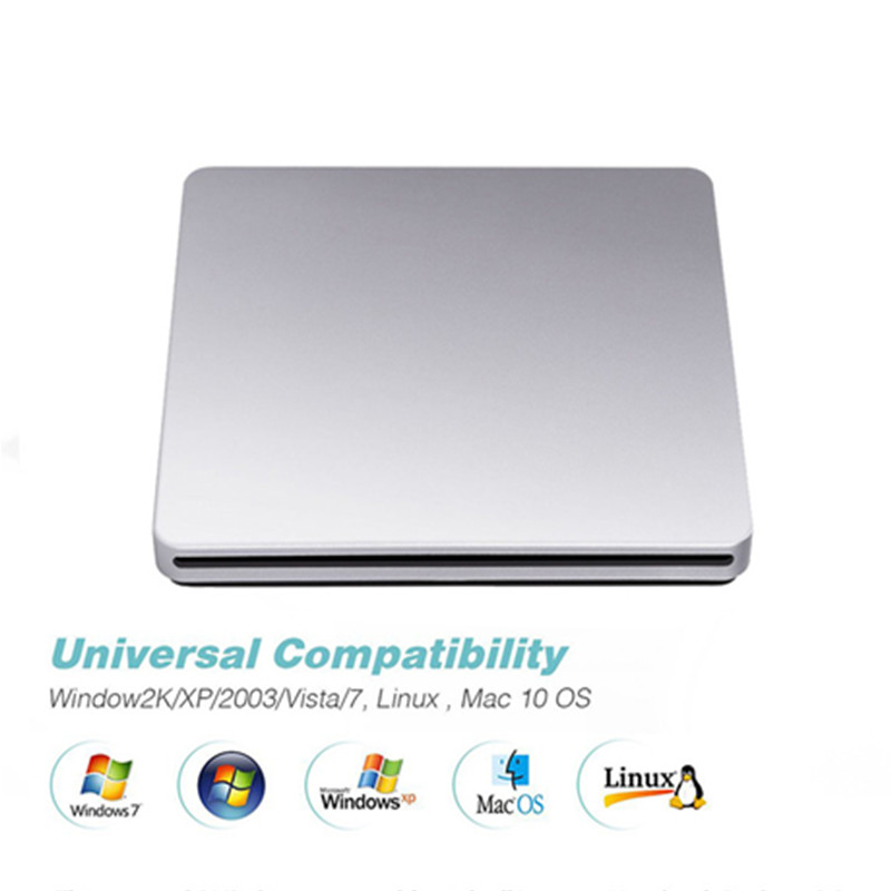 KuWfi DVD RW USB 3.0 Burner Portable External DVD Drive CD/DVD ROM Player Slot-in Drive Read Writer Super For Laptop