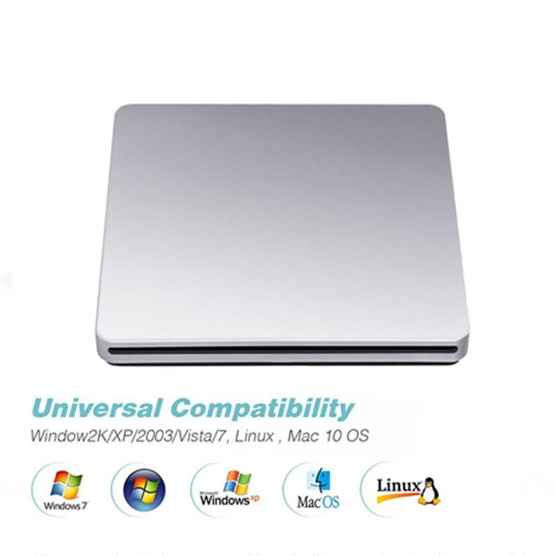 KuWfi DVD RW USB 3.0 Burner Portable External DVD Drive CD/DVD ROM Player Slot in Drive Read Writer Super for Laptop