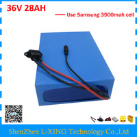 Free Customs Duty 36V 28AH Battery Pack 1500W 36 V Lithium Battery 28AH Use Samsung 3500mah