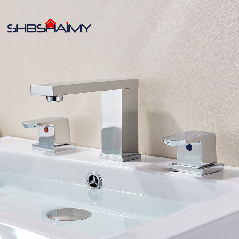 Deck Mounted Chrome Polished Brass Waterfall Bathroom Basin Faucet Dual Handles Mixer Tap вытяжка со стеклом gefest во 3603 д1в