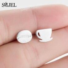 SMJEL – boucles d'oreilles en forme de grains de café pour femmes, petite tasse de thé, bijoux à la mode, cadeau, nouveauté