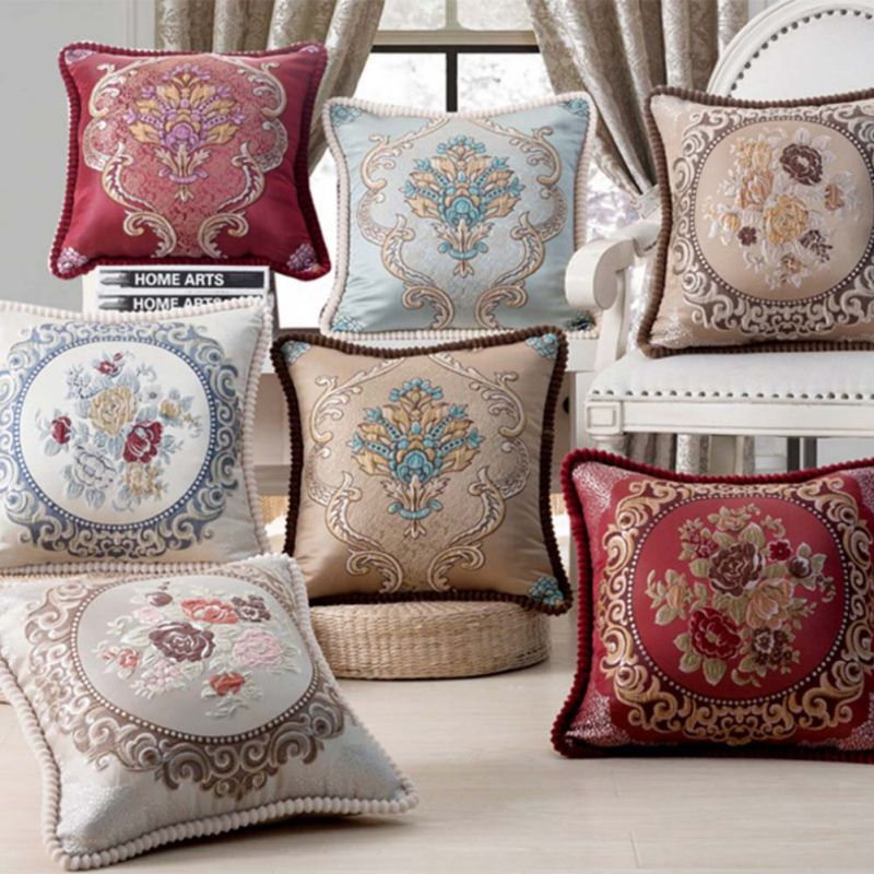 Luxury Decorative Bed Pillows : European Style Luxury Bed Decorative Throw Pillows Cushions Cover Home Chair Embroidery Pillow ...