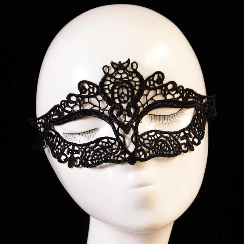 1pcs animal anonymous mask eye mask halloween sexy female cosplay black lace mask carnival masque sexy - Black Eye Mask Halloween