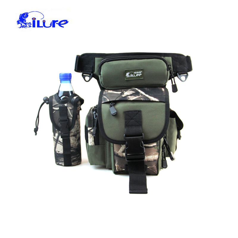 Ilure Fishing Leg Waist Bag Multi-pocket Outdoor Fishing Tackle Bag Pack Waterproof Belt Bag Bolsa Fishing Tools Storage Pouch Security & Protection