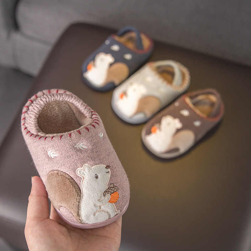 Little Baby Slippers for Children for 2019 Winter Girls Slippers Non-slip Bathroom Slippers Infant Toddler Baby Boys Home Shoes