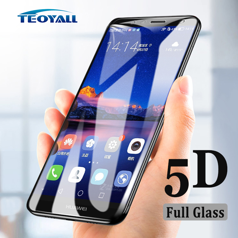 TeoYall <font><b>5D</b></font> Edge Screen Protector for <font><b>Huawei</b></font> GR3 GR5 2018 GR5 2017 Tempered <font><b>Glass</b></font> for <font><b>Huawei</b></font> Y5 Y7 Prime 2018 Protective Film image