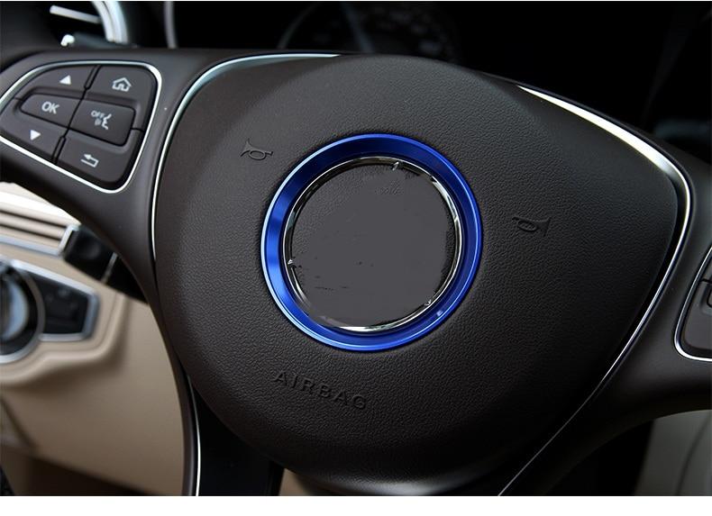 50PCS Car steering wheel decorative circle modified sequins sticker for Mercedes Benz A Class B Class