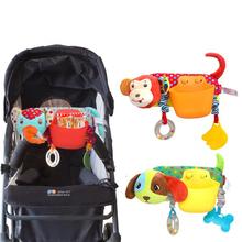 Baby Toys Stroller Storage Pocket Infant Cartoon Animal Pendant Soft Plush Toy Crib Hanging