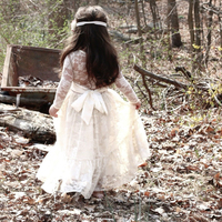 Baby Girl Party Dress Children Prom Gown Designs Kids Clothes Girls Tutu Long Lace Flower Wedding