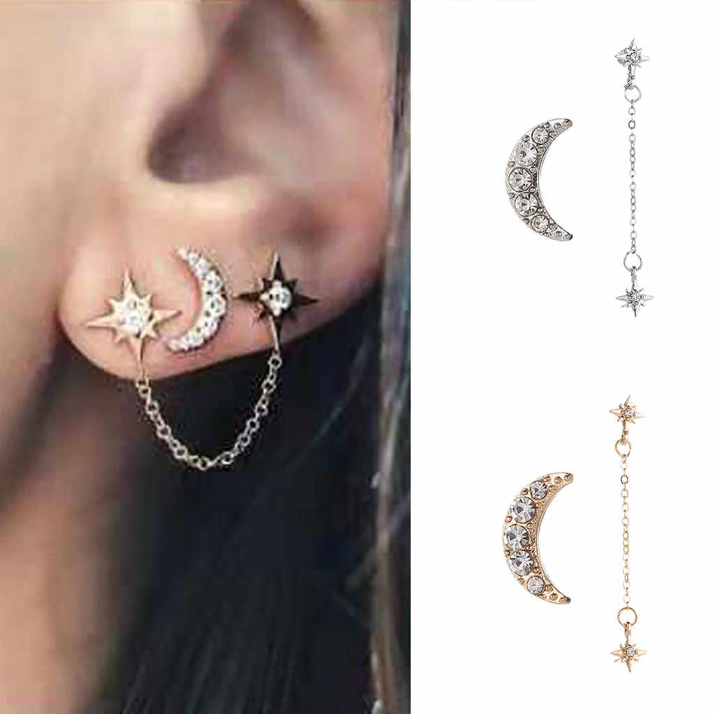 Earrings Women Boho Earrings For Women Jewelry Hollow Star Moon Style Boucle D'oreille Femme 2019 Kolczyki Pendientes Mujer L071