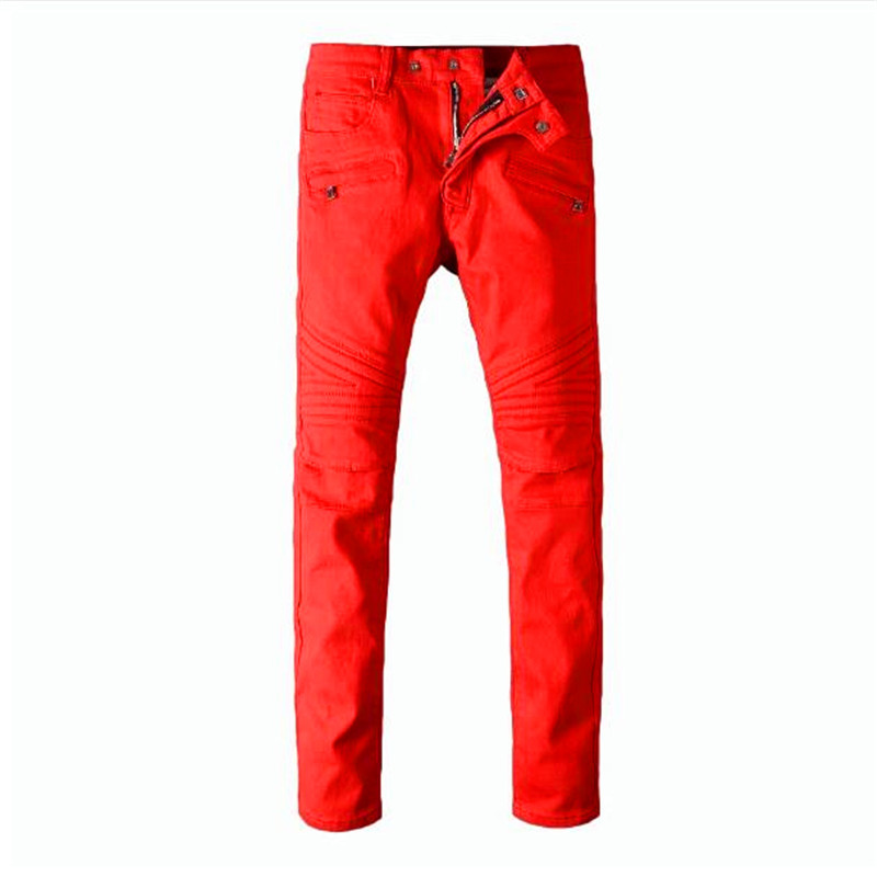 Free Delivery,2017 Red Ripped Jeans Men With Holes Super Skinny Famous Slim Fit Torn Jean Pants For Male 2016 new brand slim fit destroyed torn jeans new blue ripped jeans men with holes pants for male plus size 28 33