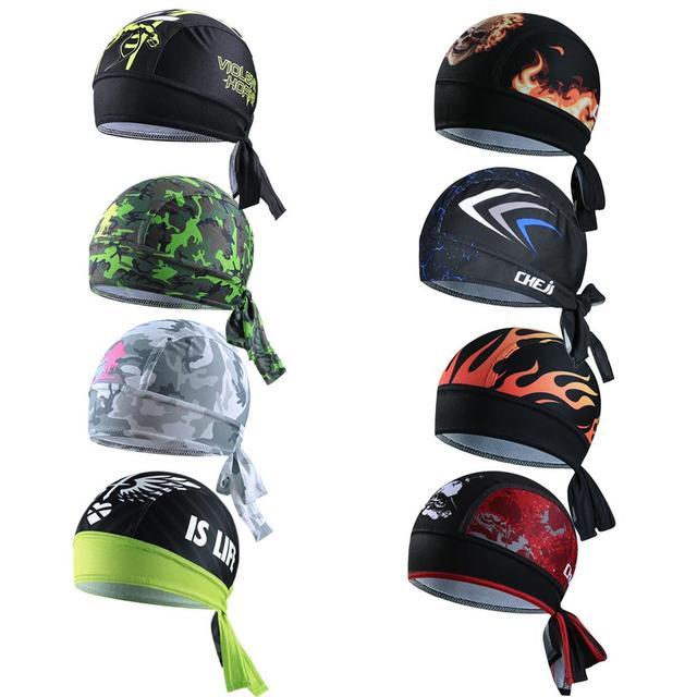195d16215f0cd6 Cheji Personalized Bike Bicycle Cycling Hat Cap Running Bandana Headband  Pirate Beanie Headwear For Men