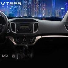 Vtear для hyundai Creta ix25 аксессуары для автомобиля контрольная панель Центральная управление накладка из нержавеющей стали внутренние молдинги 2016-2019