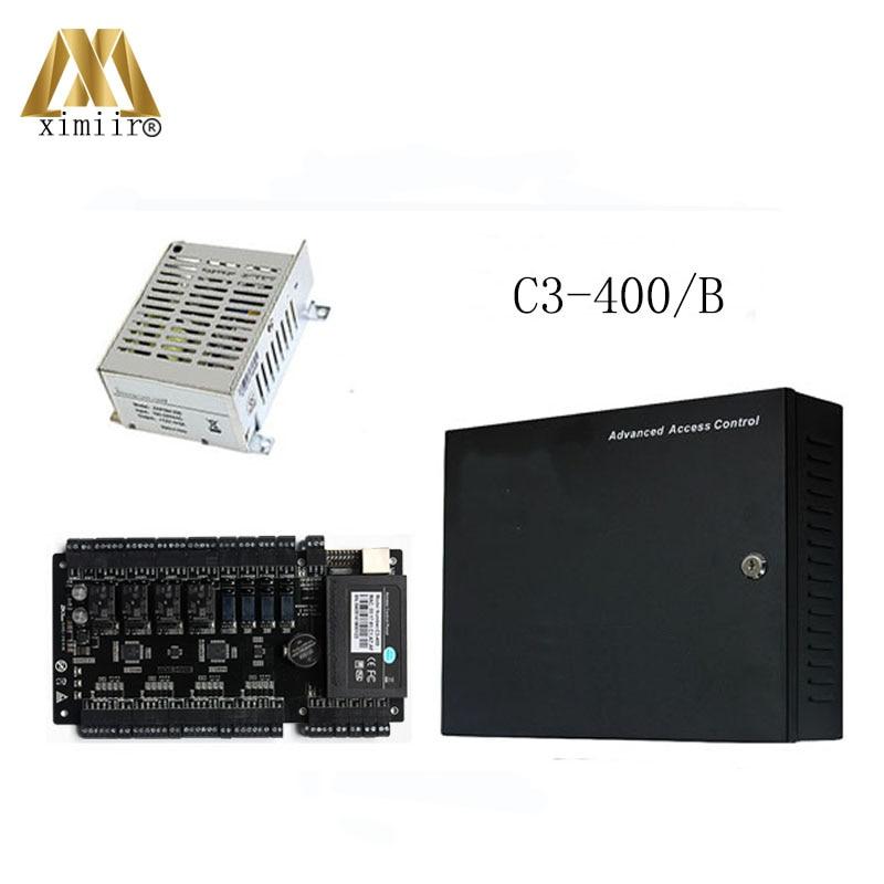 Hot Sale C3-400 Card Access Control System ZK 4 Doors Access Control Panel With Power Supply Protect Box With Battery Function илья рощин большая кулинарная книга