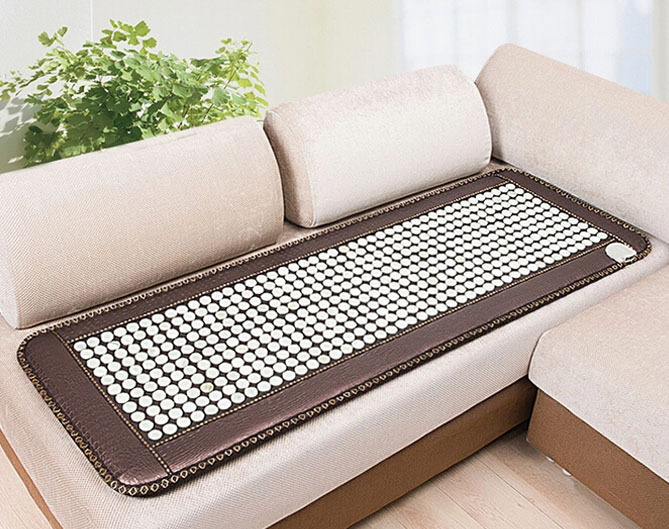 Free shipping for natural Jade Germanium Stone Tourmaline Electric Heated Sofa Mattress Physical Therapy Mats Size 150x50cm jade physical therapy cushion germanium seat mat tourmaline health sofa mattress heated sofa electric heat mats made in china