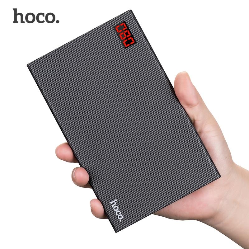 imágenes para HOCO B17A 20000 mAh Banco de la Energía 5 V/2A Dos Entrada de Cargador de Teléfono Móvil Portátil de Batería Externa Para el iphone Xiaomi Samsung Powerbank