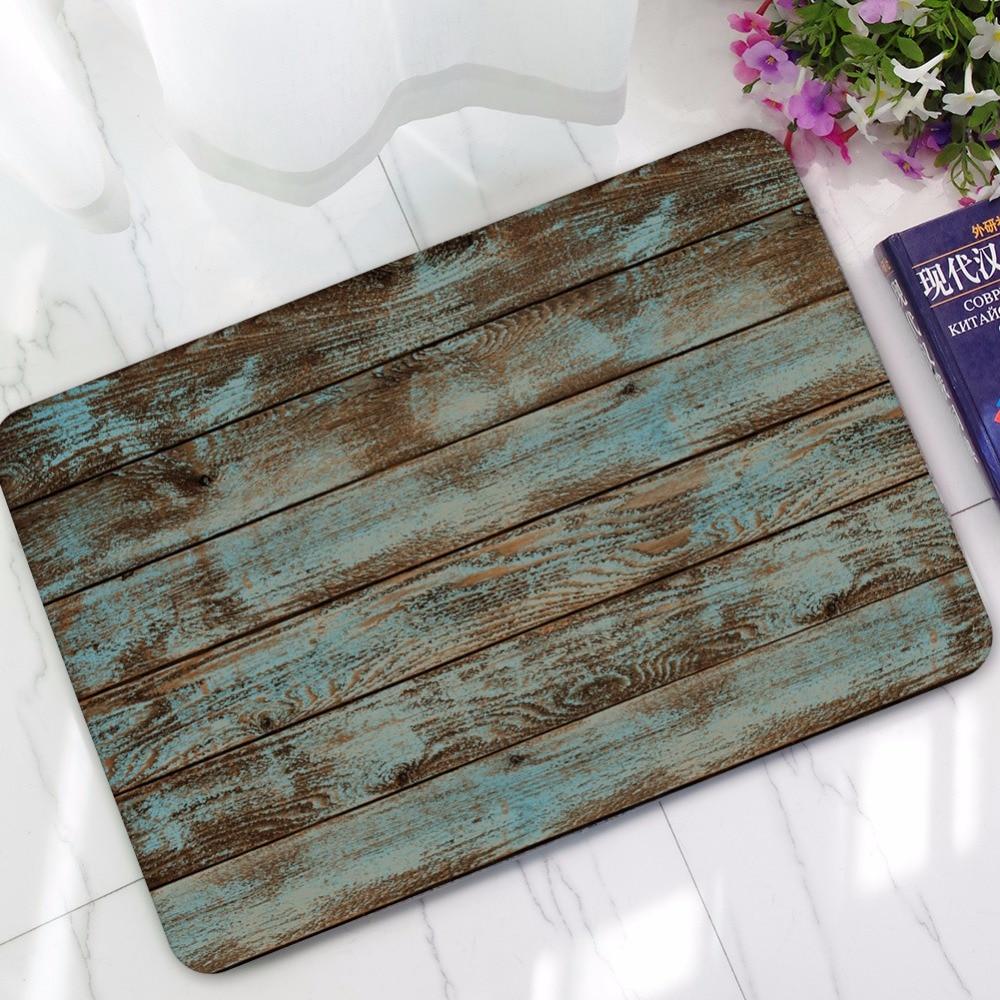 Rubber Old Wood Floor Doormats Print Custom Vintage