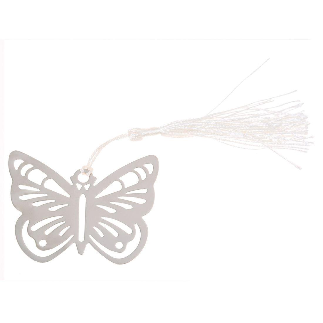 Закладки S Закладки Fringe бабочка серебро Нержавеющая сталь для книги