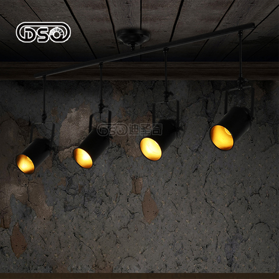 ФОТО DISHENGQI,American Style Vintage LED Track Light For Shop Decoration Restaurant Bar