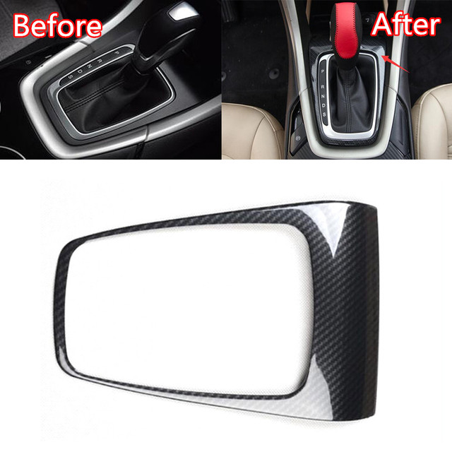 JXKaFa For Ford Fusion Mondeo 2013-2015 Car Interior Mouldings Gear Shift Panel Cover Trim Car Styling ABS Carbon Fiber Style 3