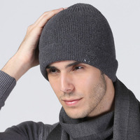 Wool 2016high quality Women Men Unisex Knitted Winter Cap Casual Beanies Solid Color Hip hop Snap Slouch Skullies Bonnet Hat