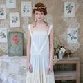 LYNETTE CHINOISERIE Diseño Original Mujeres de la Alta Calidad Del Verano patchwork Bordado tirantes romanticismo francés vestido de gasa