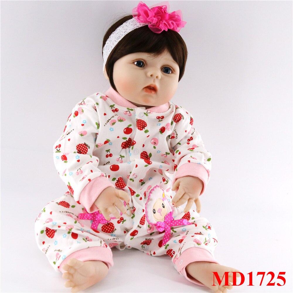 56 cm corps complet silicone bebes fille poupées mignon cheveux courts réel doux toucher vivant reborn bébé jouets pour enfants cadeau d'anniversaire - 6