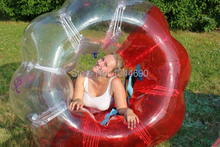 Promotion  ! ! 1.5m pvc marvelous loopy ball,bubble ball for football, red loopy ball