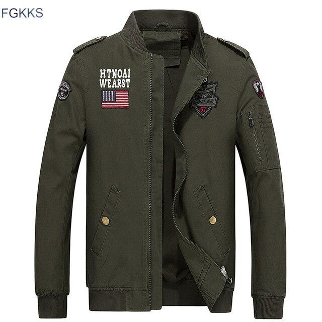 more photos 1301e cc6cd US $49.98  FGKKS Bomber Giacche Da Uomo 2017 Militare Beige Giacca Da Uomo  Autunno Giacche Uomo Cappotti Dell'esercito All'aperto Esercito Giacca ...